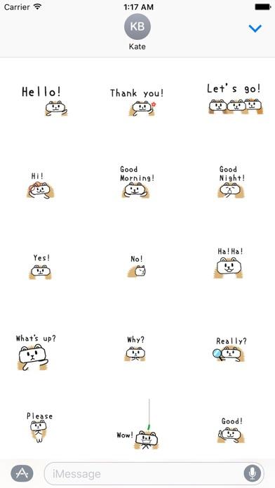Animated Cute Hedgehog Sticker Screenshot