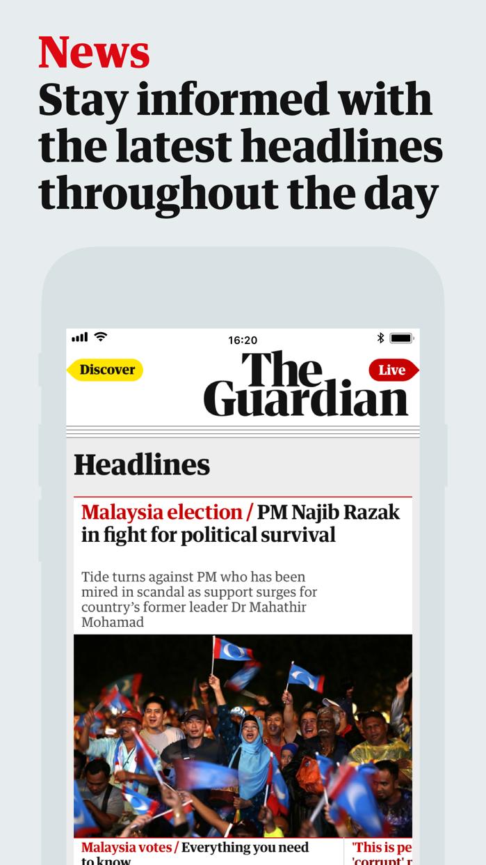 The Guardian Screenshot