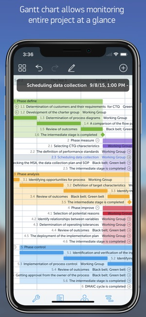 Project office gantt chart on the app store project office gantt chart on the app store ccuart Gallery