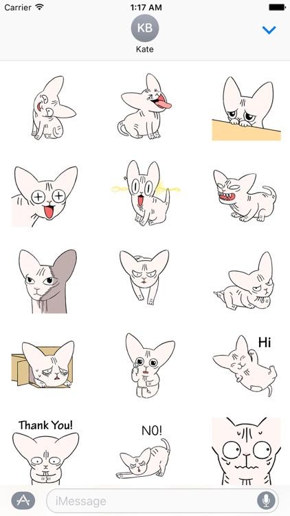 Animated Sphynx Cat Sticker