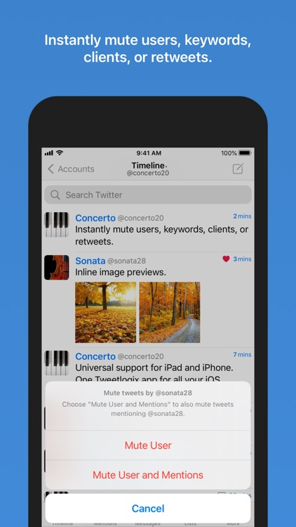 Tweetlogix for Twitter screenshot-3