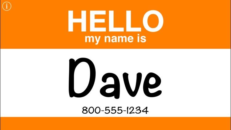 Hello Name Tag screenshot-3