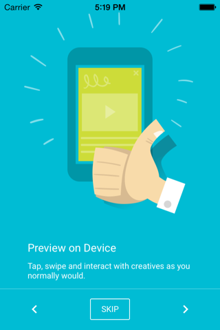 Screenshot of Creative Preview