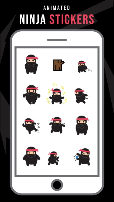 Ninja Animated Stickers Screenshot 1