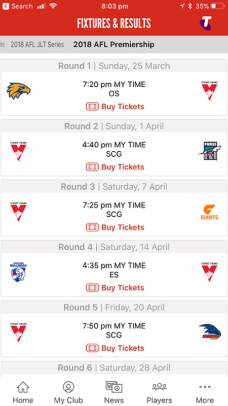 Sydney Swans Official App - Online Game Hack and Cheat