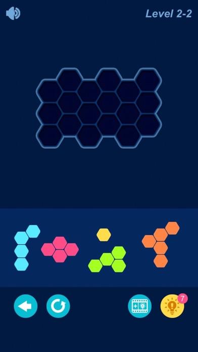 Hexagon Puzzledom Screenshot on iOS