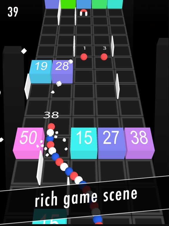 Balls Snake-Hit Up Number Cube-ipad-1