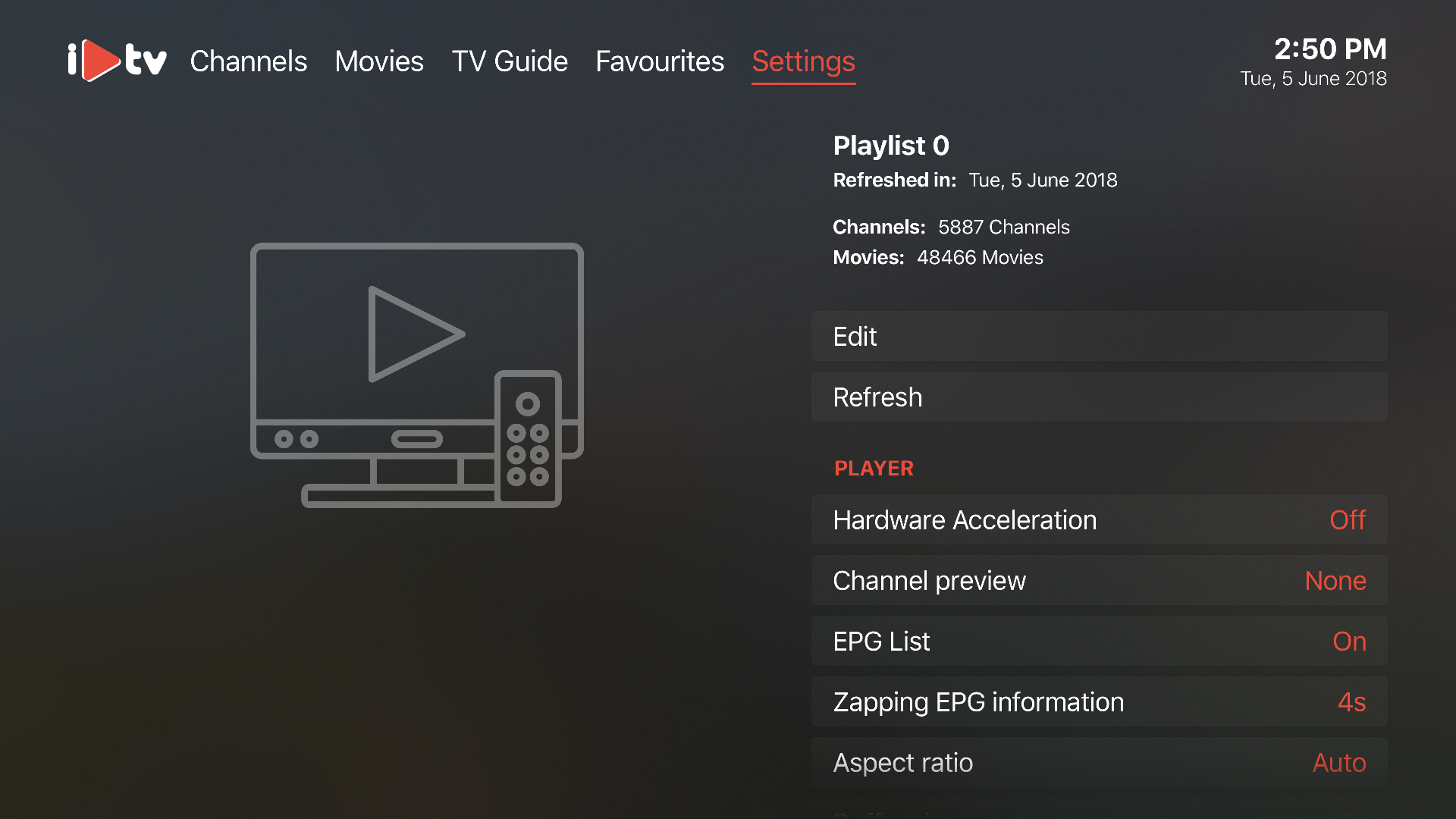 iPlayTV  -  IPTV/M3U Player screenshot 6