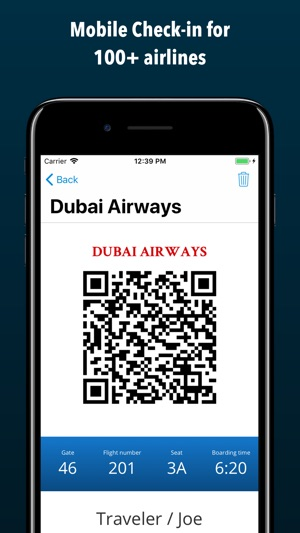 Boarding Pass Flight Checkin On The App Store