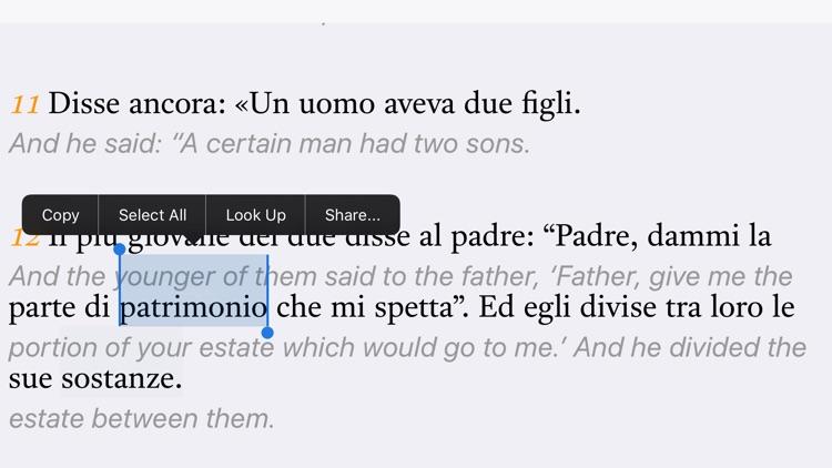 Italian-English Bible screenshot-3