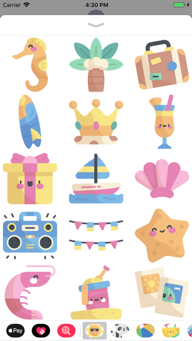 Cool Summer Party Stickers screenshot one