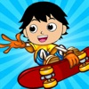 Skate Race With Ryan Flips