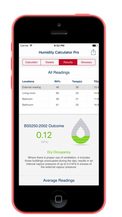 Humidity Calculator (Pro) screenshot-3