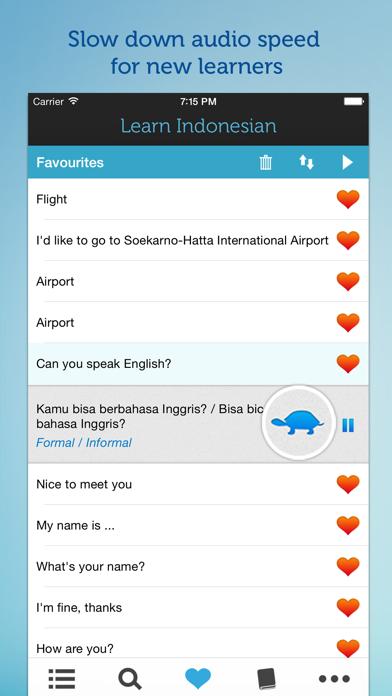 Learn Indonesian - Phrasebook screenshot three