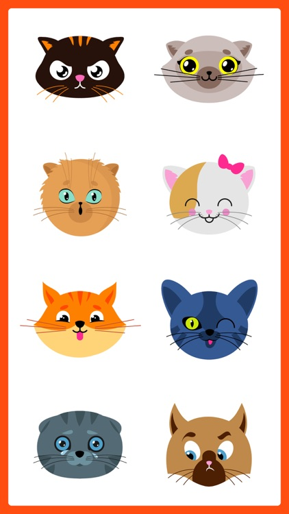 Adorable Cat SMS Stickers Pack