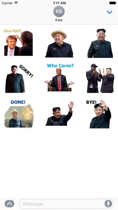 Trump And Kim Emoji Sticker screenshot 2