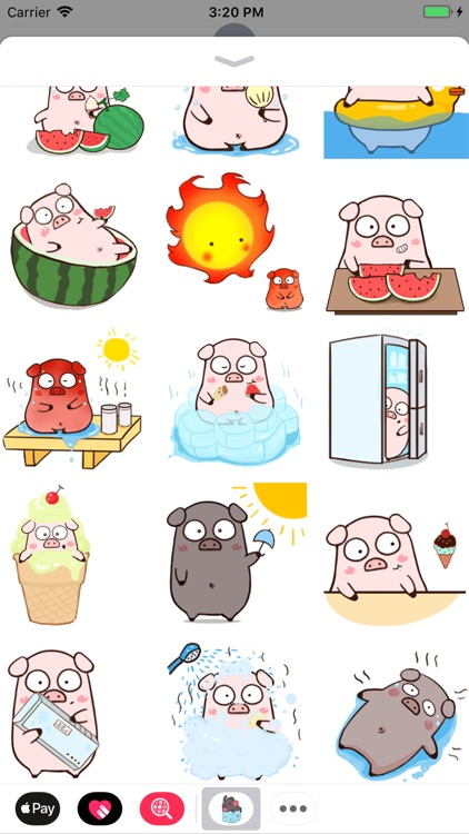 Summer Bunny Animated Stickers screenshot-3