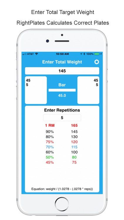 Right Plates Weight Calculator