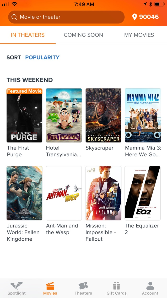 Fandango - Showtimes + Tickets Screenshot