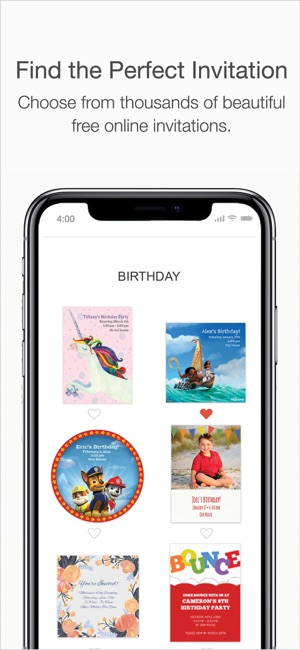 Punchbowl online invitations on the app store stopboris Images