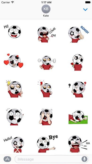 Animated Football Man Sticker screenshot 1