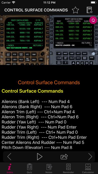 FSX Key Commands | App Price Drops