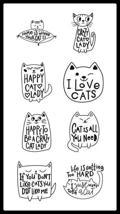 Funny Cats Text Sticker Emotes