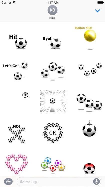 Animated Football Ball Sticker
