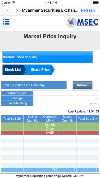 MSEC Mobile Trading by Myanmar Securities Exchange Centre Co