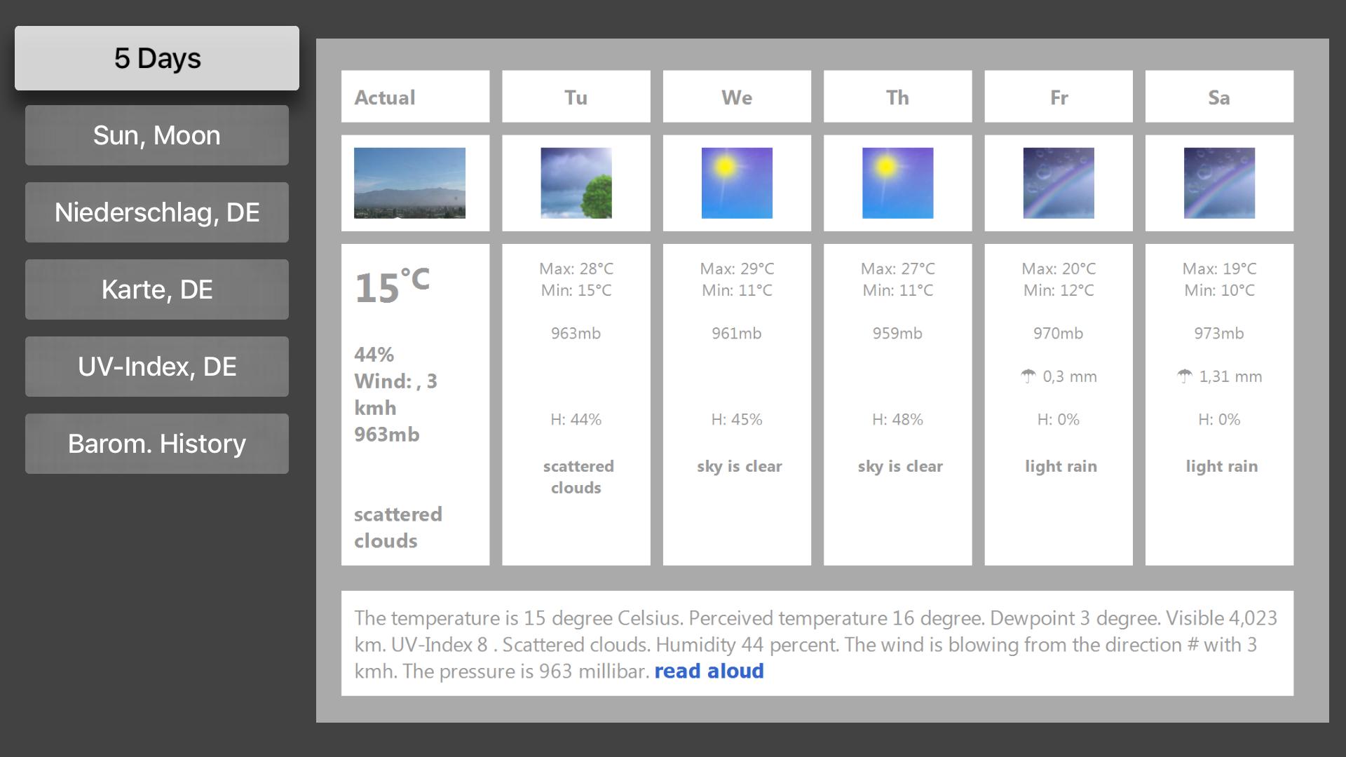 TV Weather & Webcams screenshot 3