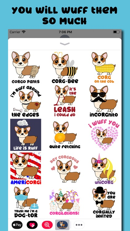 Corgi Puns - cute dog stickers