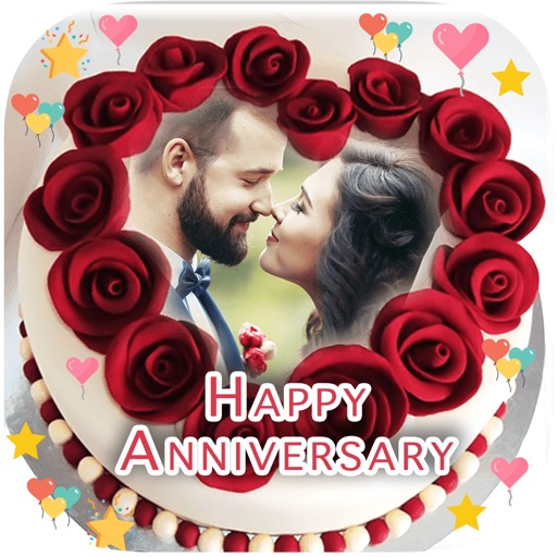 Anniversary Cake Photo Frame By Patel Ravjibhai