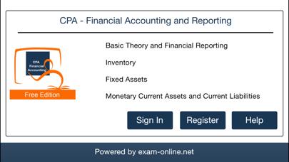 CPA FAR Exam Online Lite screenshot one