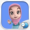Nada1 Muslim hijab Eng Stickers By ChatStick