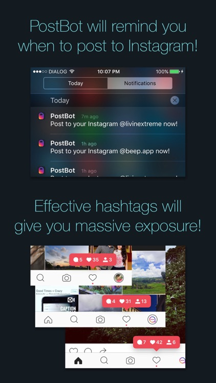 PostBot 3 for Instagram- Best time to post & tags screenshot-4