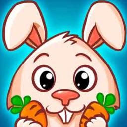 小兔吃萝卜