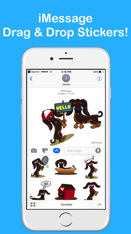 DoxieMoji - Dachshund Love Weinermoji & Stickers screenshot-1