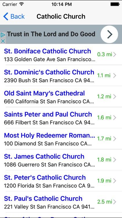 Church Finder: Find & Locate Nearby Churches
