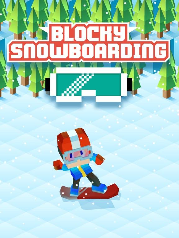 Blocky Snowboarding на iPad