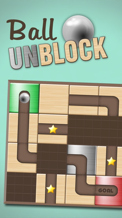 Ball Unblock - Slide the blocks and roll the ball