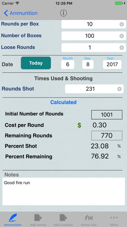 Ammunition Inventory & Ammo Catalog Calculator