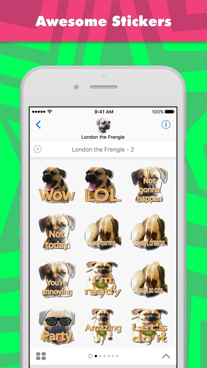 London the Frengle 2 stickers for iMessage