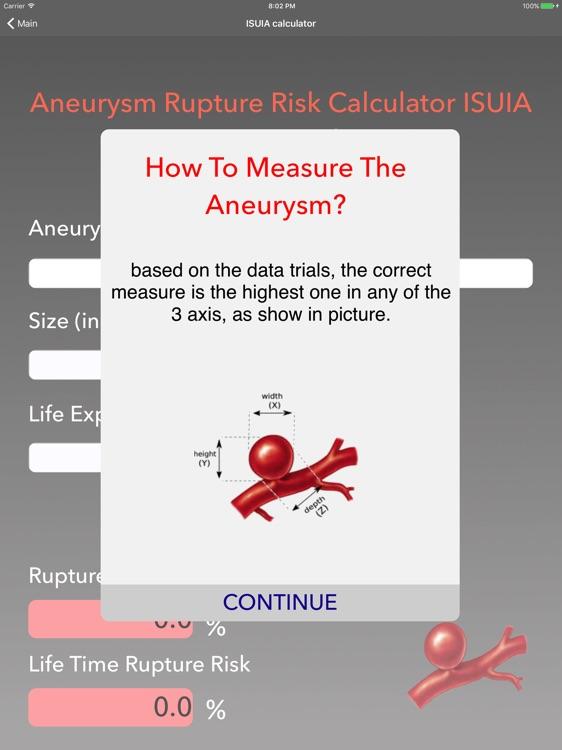 Aneurism Rupture Risk Calculator screenshot-4