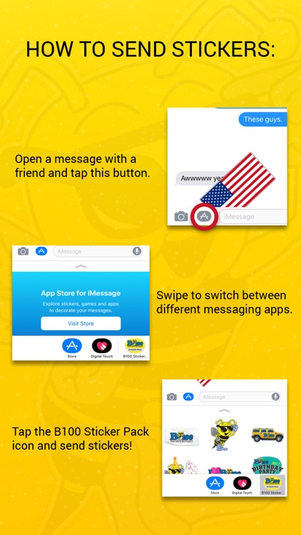 B100 Sticker Pack screenshot-3
