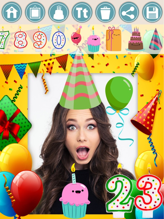 Screenshot 5 For Birthday Photo Frames And Stickers Editor
