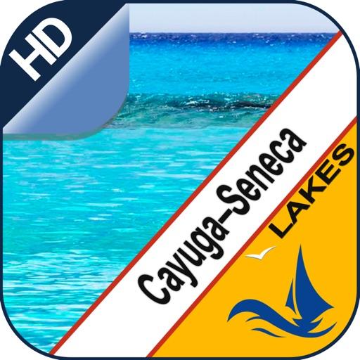 Cayuga Seneca Lakes GPS nautical chart for boaters
