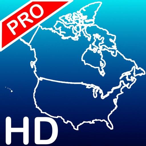 Aqua Map: US & Canada - GPS Nautical Charts