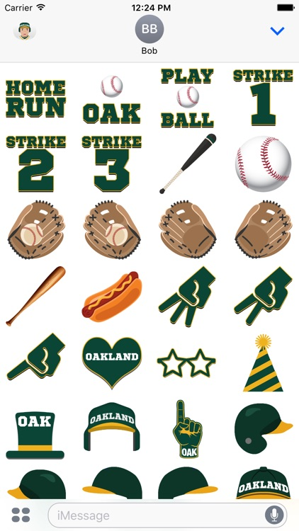 Oakland Baseball Stickers & Emojis screenshot-3