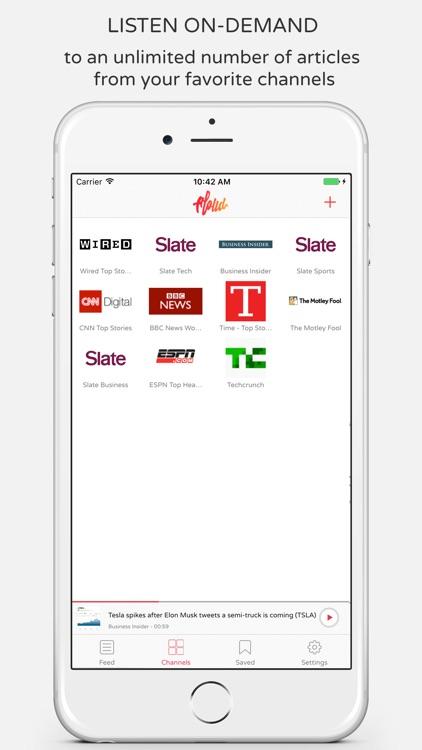 Aloud Player - Listen to the Web, News, Stories screenshot-3