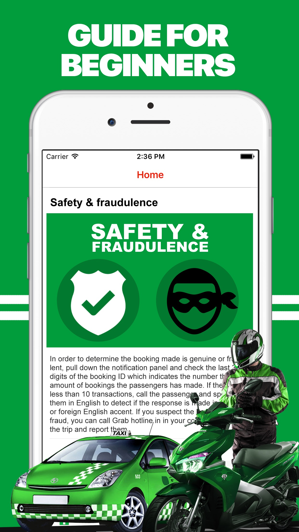 App for Grab Taxi Drivers Screenshot